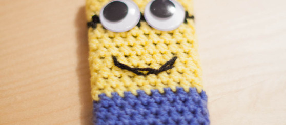 Minion Inspired Phone Case Free Pattern Loopsan Crochet Blog