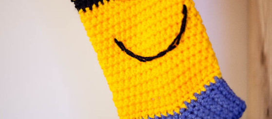 Minion-inspired Christmas Sock - Free Pattern - Loopsan ...
