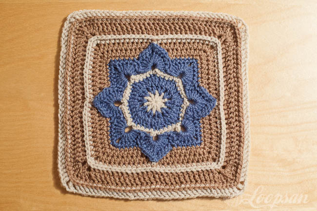Eight Pointed Flower Granny Square by Julie Yeager