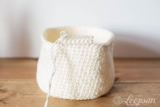 Crochet Bunny Storage Basket