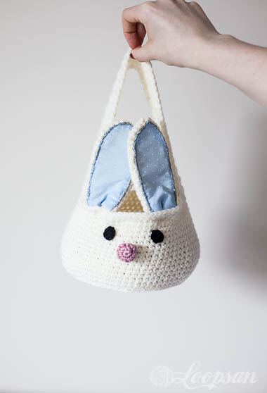 Crochet Bunny Storage Basket