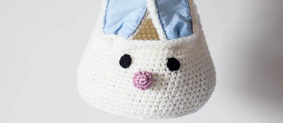Crochet cesta del conejito
