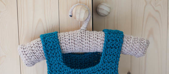 Crochet Baby Clothes Hanger- Free Pattern by Loopsan
