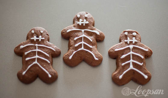 Halloween Chocolate Skeleton Biscuit Recipe
