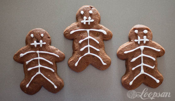 Chocolate Skeleton Biscuits