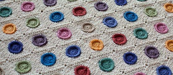 Dotty Blanket in Inside Crochet 63