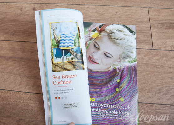 Sea breeze cushion in Inside Crochet 66