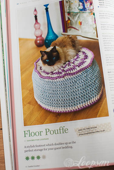 Floor Pouffe by Loopsan - Inside Crochet 69