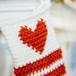 Heart Christmas Stocking Close Up