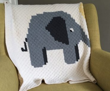 Ellen the Elephant Blanket