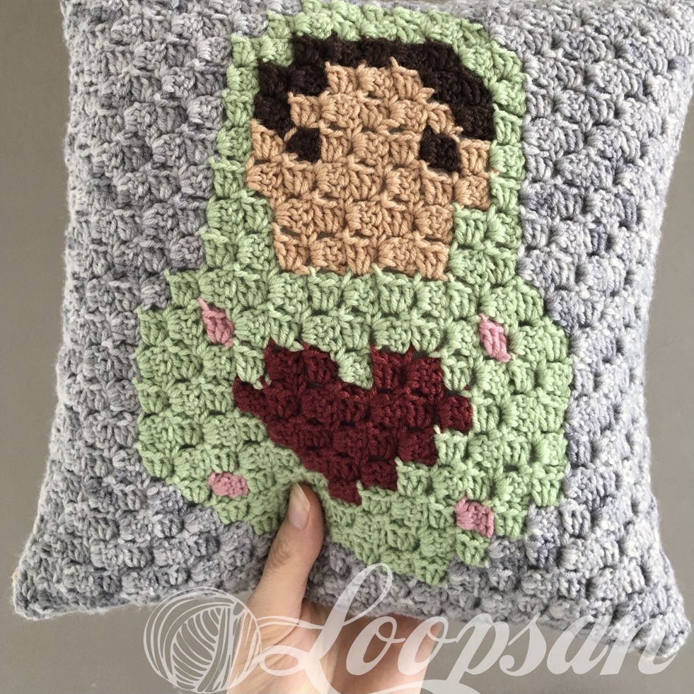 Russian Doll Pillow Front