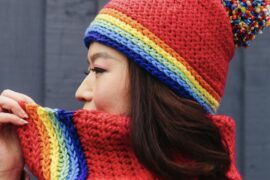 Snood and Hat Set Inside Crochet